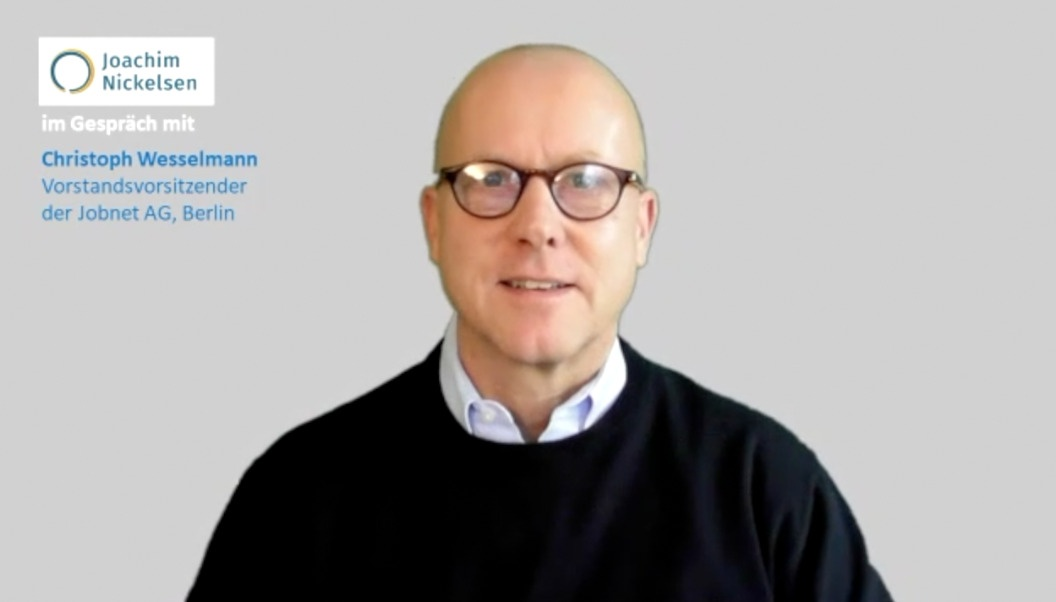 Joachim Nickelsen im Gespräch